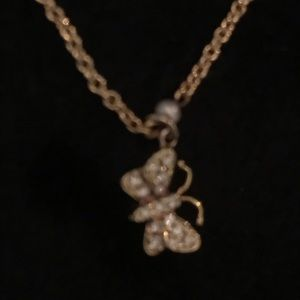 Jewelry - Diamond and seed pearl necklace